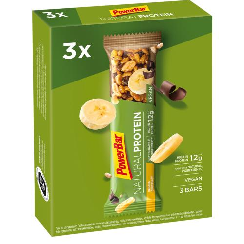 3x PowerBar Natural Protein tyčinka